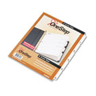 Traditional OneStep Index System, 5-Tab, 1-5, Letter, White, 5/Set CRD60513