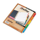Traditional OneStep Index System, 5-Tab, 1-5, Letter, Assorted, 5/Set CRD60518