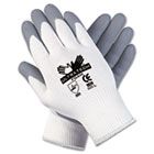 Ultra Tech Foam Seamless Nylon Knit Gloves, Large, White/Gray, Pair CRW9674L