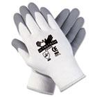 Ultra Tech Foam Seamless Nylon Knit Gloves, Small, White/Gray, Pair CRW9674S