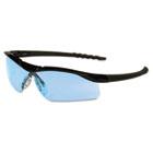 Dallas Wraparound Safety Glasses, Black Frame, Light Blue Lens CRWDL113