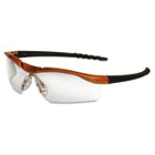 Dallas Wraparound Safety Glasses, Orange Frame, Clear AntiFog Lens CRWDL210AF
