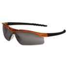 Dallas Wraparound Safety Glasses, Orange Frame, Gray AntiFog Lens CRWDL212AF