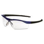Dallas Wraparound Safety Glasses, Metallic Blue Frame, Clear AntiFog Lens CRWDL310AF