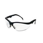 Klondike Plus Safety Glasses, Black Frame, Clear Lens CRWKD310