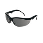 Klondike Plus Safety Glasses, Black Frame, Gray Lens CRWKD312