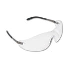 Blackjack Wraparound Safety Glasses, Chrome Plastic Frame, Clear Lens CRWS2110