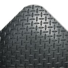Industrial Deck Plate Anti-Fatigue Mat, Vinyl, 24 x 36, Black CWNCD0023DB