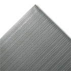 Ribbed Anti-Fatigue Mat, Vinyl, 27 x 36, Gray CWNFJS736GY