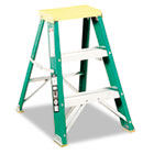 #624 Folding Fiberglass Locking 2-Step Stool, 17w x 22 Spread x 24h DADL321202