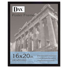 Flat Face Wood Poster Frame, Clear Plastic Window, 16 x 20, Black Border DAX2860V2X