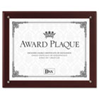 Plaque-In-An-Instant Kit w/Certificates/Mats, Wood/Acrylic 10-1/2 x 13, Mahogany DAXN100MT