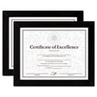 Document/Certificate Frames, Wood, 8-1/2 x 11, Black, Set of Two DAXN15832