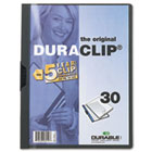 Vinyl DuraClip Report Cover, Letter, Holds 30 Pages, Clear/Graphite DBL220357