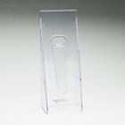 Stand Tall Literature Holder, 4-9/16w x 2-3/4d x 11-3/4h, Clear DEF55601