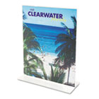 Stand-Up Double-Sided Sign Holder, Plastic, 4 x 6, Clear DEF69001