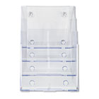 Multi Compartment DocuHolder, Four Compartments, 9-1/4w x 7d x 13-1/2h, Clear DEF77441