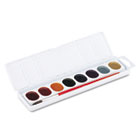 Glitter Washable Watercolors, 8 Assorted Colors DIX80515