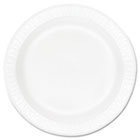 "Concorde Foam Plate, 10 1/4"" dia, White, 125/Pack, 4 Packs/Carton DRC10PWCR"