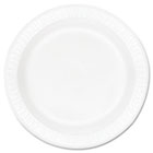 "Concorde Foam Plate, 9"" dia, White, 125/Pack, 4 Packs/Carton DRC9PWC"