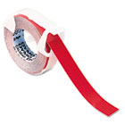 Self-Adhesive Glossy Labeling Tape for Embossers, 3/8in x 9-34ft Roll, Red DYM520102