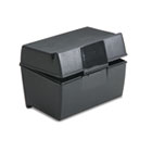 Plastic Index Card Flip Top File Box Holds 300 3 x 5 Cards, Matte Black ESS01351