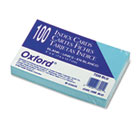 Unruled Index Cards, 3 x 5, Blue, 100/Pack ESS7320BLU
