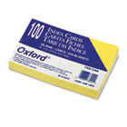 Unruled Index Cards, 3 x 5, Canary, 100/Pack ESS7320CAN