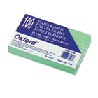 Unruled Index Cards, 3 x 5, Green, 100/Pack ESS7320GRE