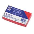 Ruled Index Cards, 3 x 5, Cherry, 100/Pack ESS7321CHE