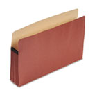 "100% Recycled Paper, Expansion File Pocket, 5 1/4"" Expansion, Legal, Red Fiber ESSE1536G"