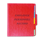 Vertical Personnel Folders, 1/3 Cut Top Tab, Letter, Red ESSSER1ER