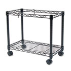 High-Capacity Rolling File Cart, 24w x 14d x 20-1/2h, Black FEL45081