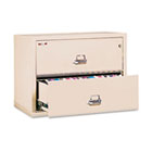 2-Drawer Lateral File, 31-1/8w x 22-1/8d, UL Listed 350°, Ltr/Legal, Parchment FIR23122CPA