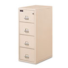 4-Drawer Vertical File, 21-5/8w x 32-1/16d, UL 350° for Fire, Legal, Parchment FIR421572PA