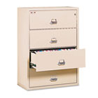 4-Drawer Lateral File, 31-1/8w x 22-1/8d, UL Listed 350°, Ltr/Legal, Parchment FIR43122CPA