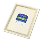 Foil Enhanced Certificates, 8-1/2 x 11, Gold Flourish Border, 12/Pack GEO45492