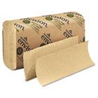 Multifold Paper Towel, 9 1/5 x 9 2/5, Brown, 250/Pack, 16 Packs/Carton GEP23304