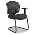 Tye Series Mesh Management Series Arm Chair w/Cantilever Base, Black GLB1953