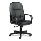 Arno Executive Leather High-Back Swivel/Tilt Chair, Black GLB4003BK450550