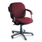 Commerce Series Low-Back Swivel/Tilt Chair, Rhapsody Burgundy Fabric GLB4737BKPB07