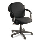 Commerce Series Low-Back Swivel/Tilt Chair, Asphalt Black Fabric GLB4737BKPB09