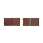 Genoa Series Doors For Hutch, 68-5/8w x 18-5/8h, Mahogany, 4/Set GLBGDOOR66QTM