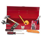 16-Piece Light-Duty Office Tool Kit, Metal Box, Red GNSCTB9