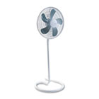 "16"" Three-Speed Adjustable Oscillating Floor Fan, Metal and Plastic, White HLSHASF1516"