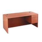 "10500 Series ""L"" Right 3/4-Height Pedestal Desk, 66 x 30 x 29-1/2, Henna Cherry HON10583RJJ"