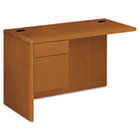 "10700 ""L"" Workstation Return, 3/4 Height Left Pedestal, 48 x 24, Bourbon Cherry HON10716LHH"