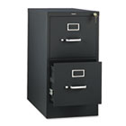 310 Series Two-Drawer, Full-Suspension File, Letter, 26-1/2d, Black HON312PP