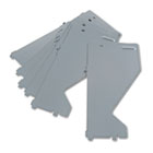 Extra Shelf Dividers for HON Lateral Files, Metal, 15d x 7-1/2h, Gray, 10/Pack HON515704X