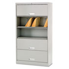 600 Series 5-Shelf Steel Receding Door File, Ltr, 36w x 13-3/4d x 75-7/8h, Gray HON625LQ